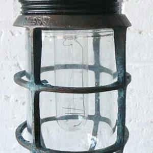 Vintage Industrial Submarine Pendant Cage Light