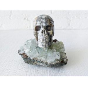 Ocean Space Jasper Skull Crystal- on India Crystal Geode
