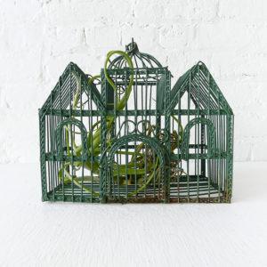 Vintage Bird Cage Victorian Air Plant Garden