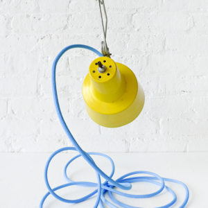 Vintage Clip Light – Retro Work Lamp with Blue Color Cord