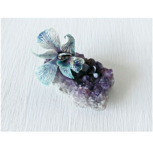 Amethyst with Flower