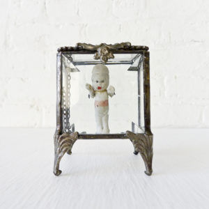 Jewelry Box Creepy Baby Beveled Glass Stand