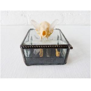 Mink Skull Bones Crystal Quartz Jewels