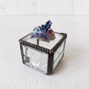Rainbow Bismuth Jewelry Box Gem