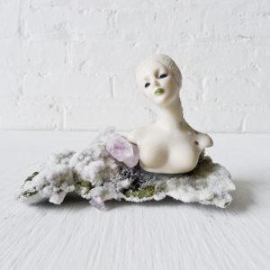 Celestial Goddess Crystal Garden – Amethyst Cluster Points