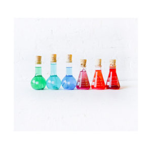 Mad Scientifical Chemistry – Colorful Science Beakers with Raw Quartz Glitter