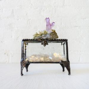 Vera Cruz Amethyst Crystal Jewelry Box