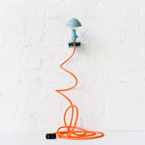 Vintage Mini Blue Industrial Machine Age Clip Night Lamp