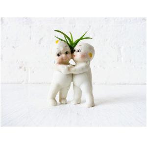 Love Grows Between Us – Kewpie Bisque Dolls Air Plant Lovers