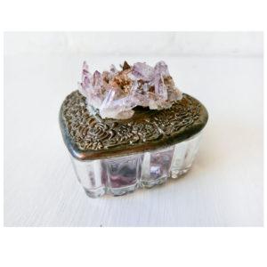 Vera Cruz Amethyst Crystal Cluster - Vintage Heart Jewelry Box