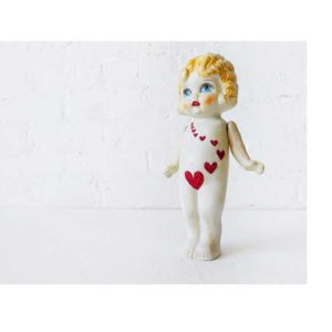 Little Miss Heart Wave - Vintage Japanese Bisque Art Doll