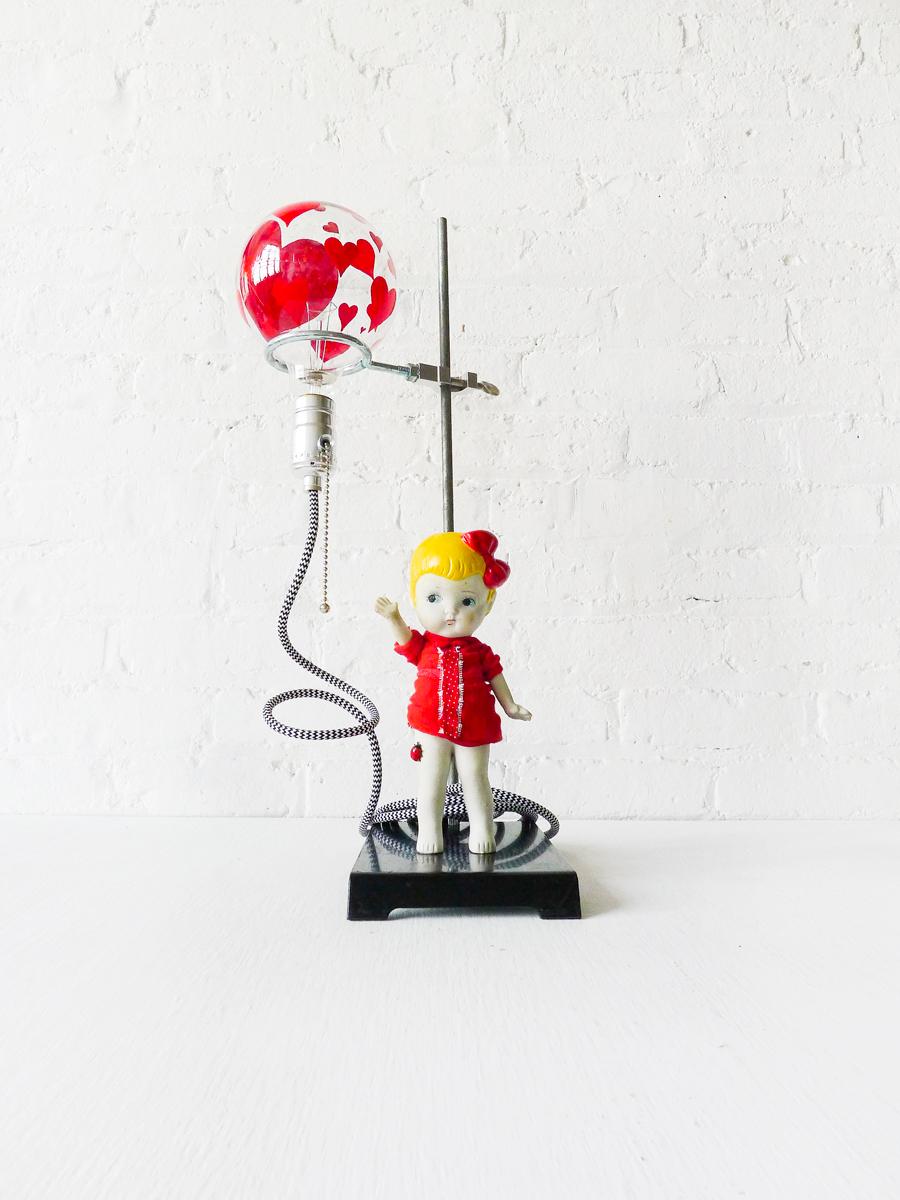 Balloon Girl Light - Vintage Bisque Doll Figurine
