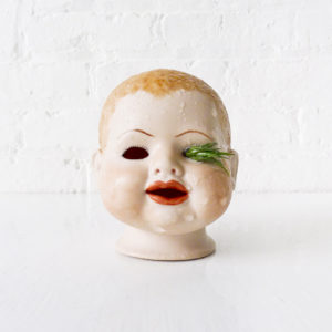 Awkward Creepy Vintage Baby Doll Head Air Plant Garden