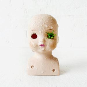 Creepy Cute Vintage Doll Head Air Plant Garden