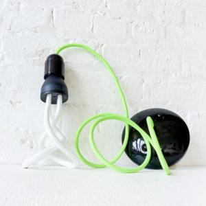 Hanging Pendant Light Plumen Designer CFL Light Bulb Neon Green Color Cord