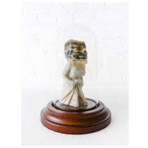 Madame Frances Tourbière- Antique Bisque Doll – Ocean Jasper Crystal Skull – Glass Dome Curiosity Display