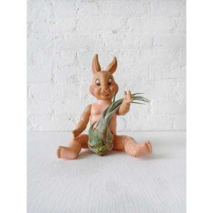 Air Plant Doll -  Rabid Rabbit with Turnip Air Plant